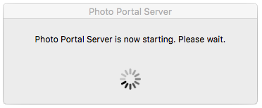 Photo Portal Server - Launch Progression